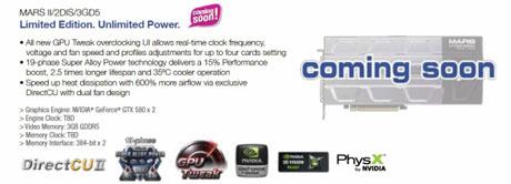 "Asus va lansa placa video ""monstru"" Marte II cu dual Nvidia GeForce 580s la Computex"