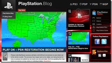 PlayStation Network şi-a reluat activitatea!