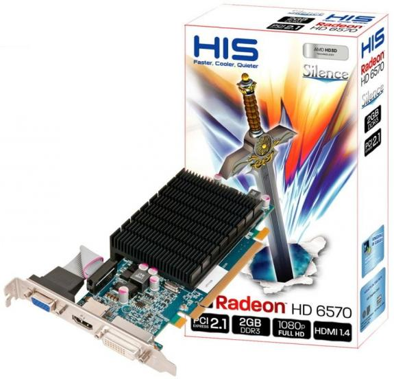 HIS dezvolta placa video Radeon HD 6570 fara cooler, 2GB