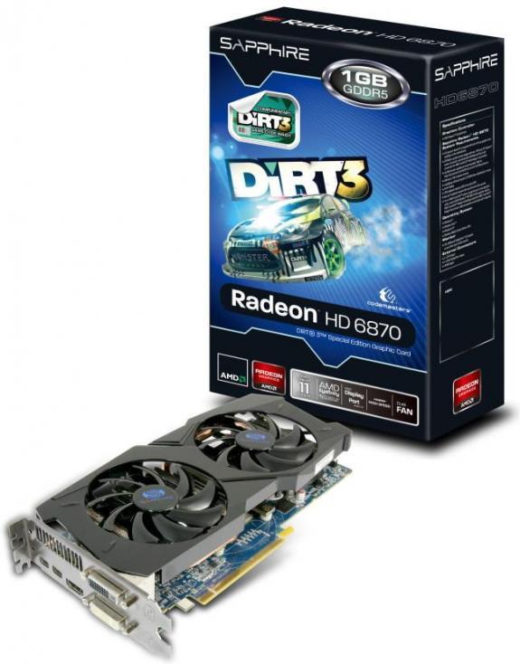 Sapphire lanseaza placa video Radeon HD 6870 1G editia Dirt 3