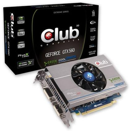 Club 3D a anuntat placa video GeForce GTX 560 Green Edition