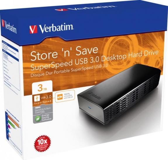 Verbatim a lansat Hard Drive-ul Store 'n' Save USB 3.0