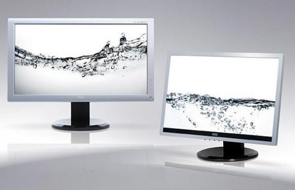 AOC pregateste doua noi monitoare LCD pentru afaceristi