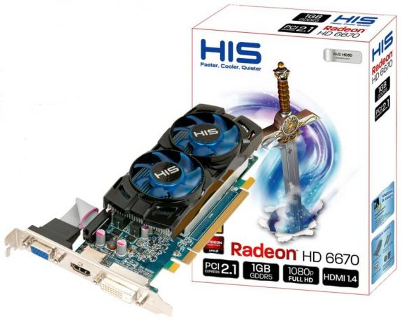 HIS a dezvoltat placa video low-profile Radeon HD 6670