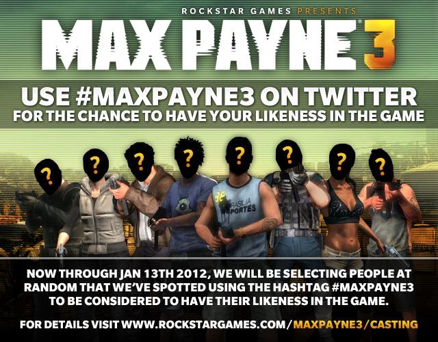 Rockstar alege personajele din Max Payne 3 Multiplayer pe Twitter