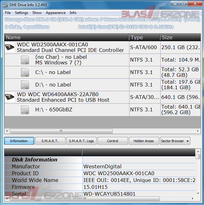 DHE Drive Info: Unealta portabila care ofera statistici detaliate despre Hard Disk