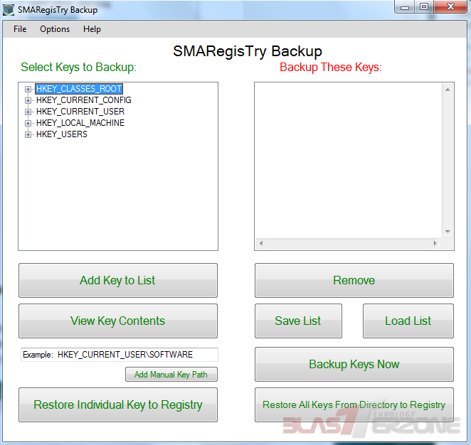 Faceti backup si restaurati Windows Registry cu SMARegisTry