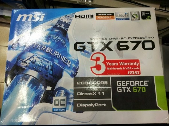 Review Nvidia GeForce GTX 670 2GB