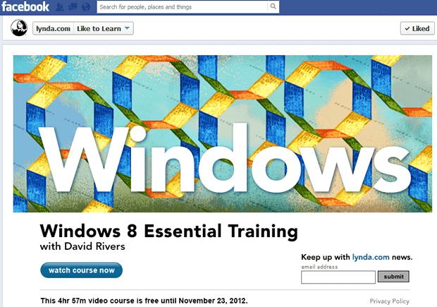 Lynda.com ofera un curs gratuit pentru Windows 8