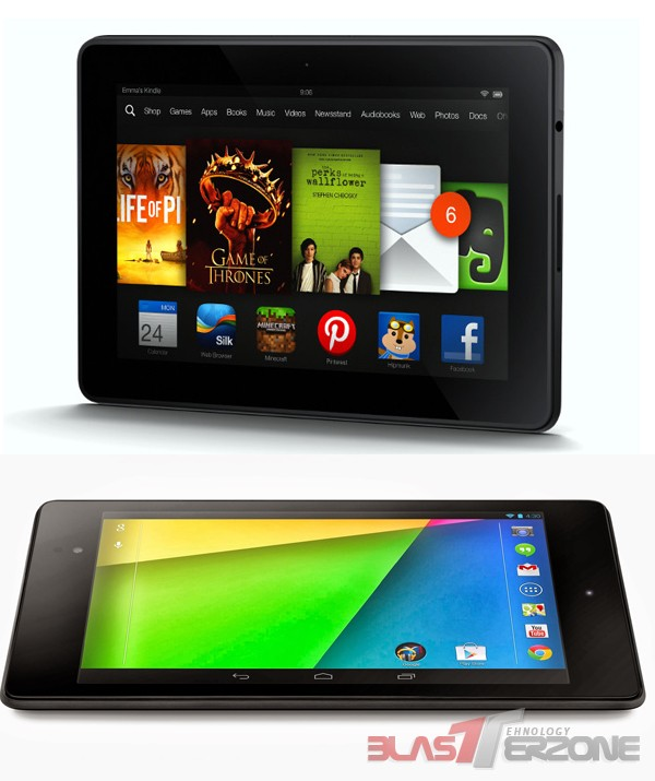 Razboiul tabletelor: Amazon Kindle Fire HDX vs. Google Nexus 7 (2013)