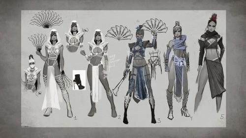 Mortal Kombat X: Concept Art pentru Kitana şi Reptile
