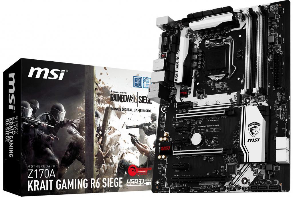 MSI lansează placa de bază Z170A KRAIT Gaming R6 Siege