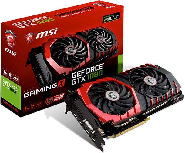 MSI anunță noile plăci video GeForce GTX 1080