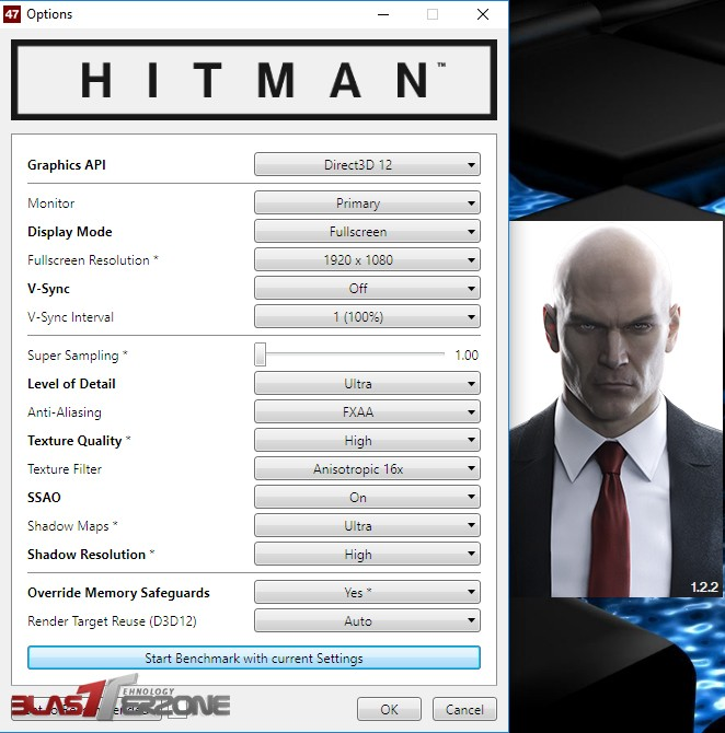 GTX 1070 G1 Gaming review HITMAN