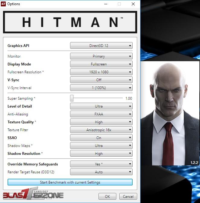 GTX 1070 G1 Gaming review HITMAN
